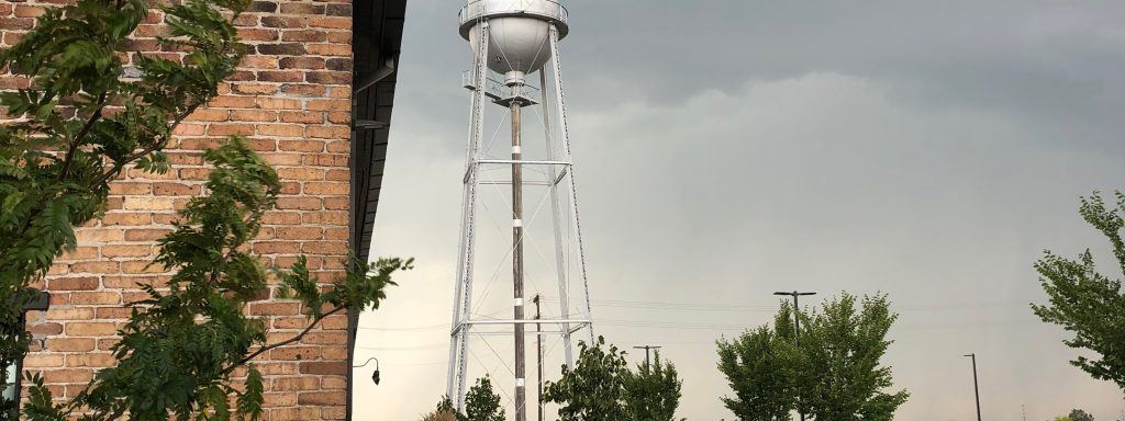 Bozeman cannery district water tower