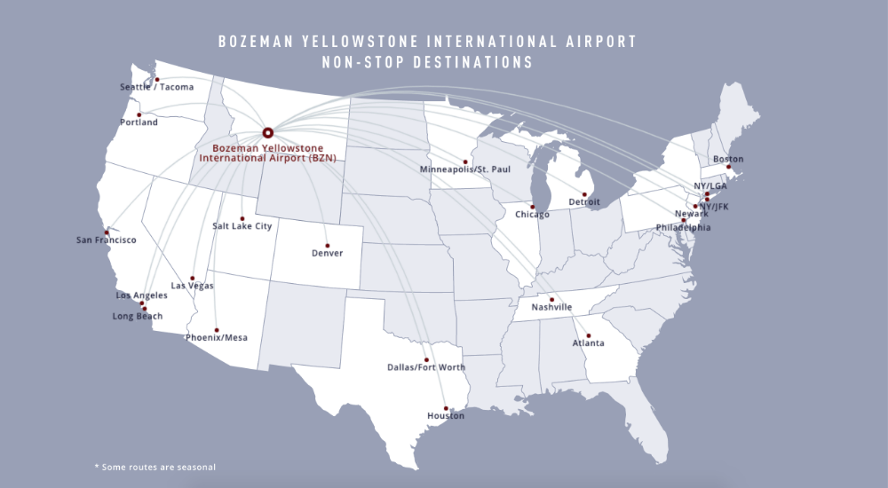 Bozeman airport direct flights